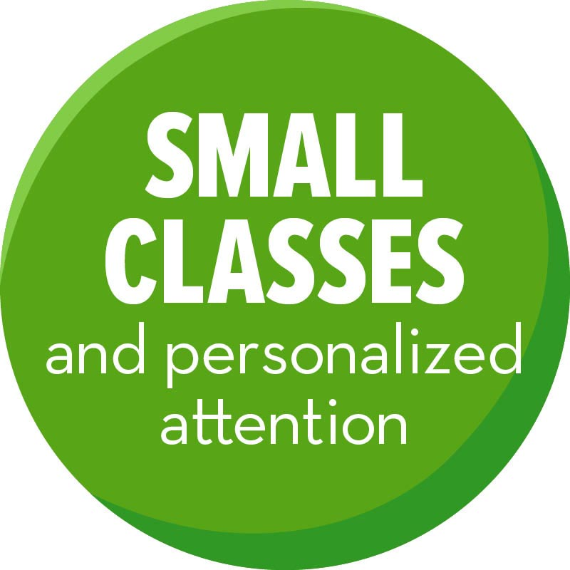 Small class sizes offer caring, personalized attention