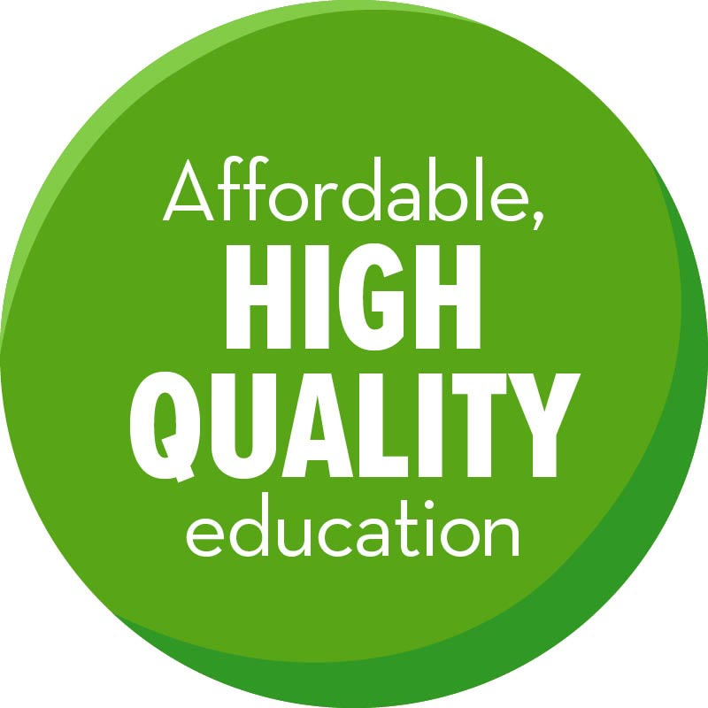 Affordable, high quality education
