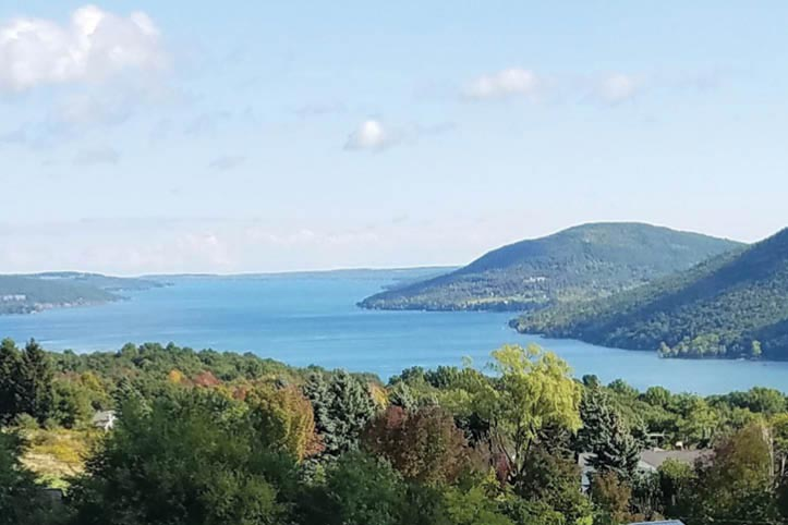 Aerial image from above Canandaigua Lake