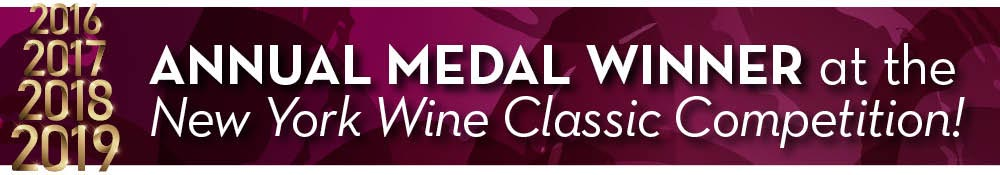 Annual Medal Winner at the New York Wine Classic Competition!